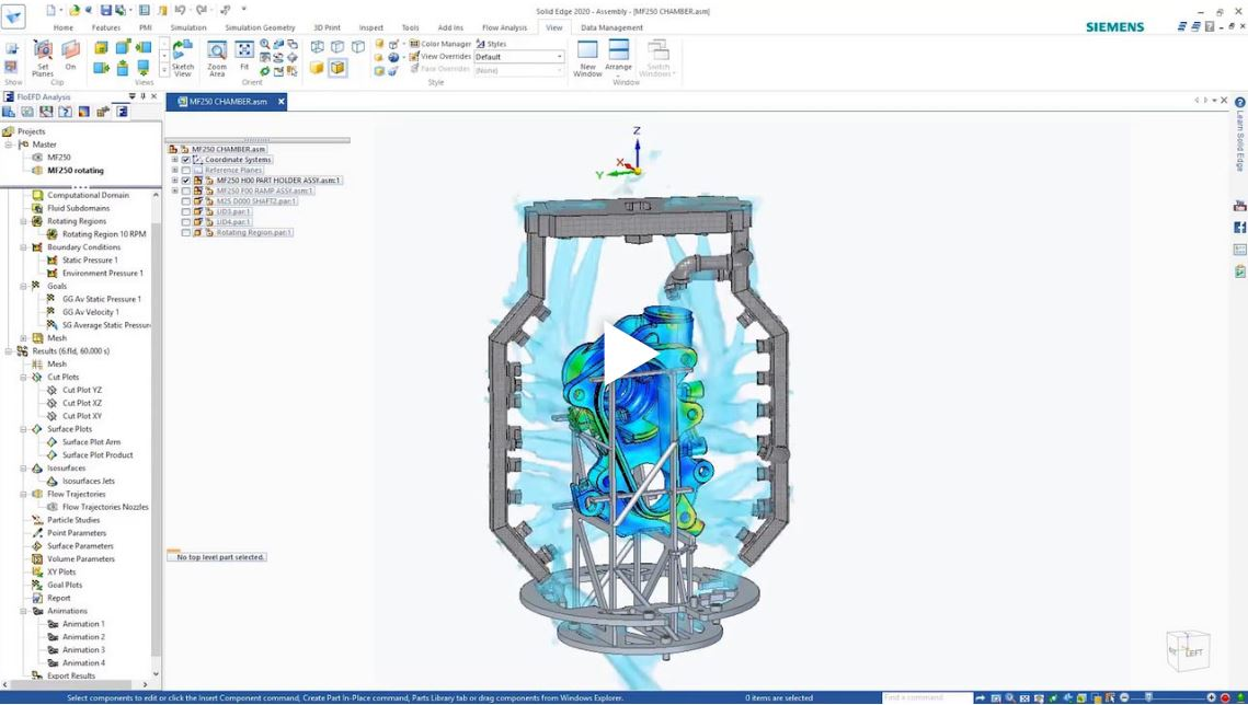 Video | Solid Edge 2020 Simulazione FEA e Flow CFD in Solid Edge
