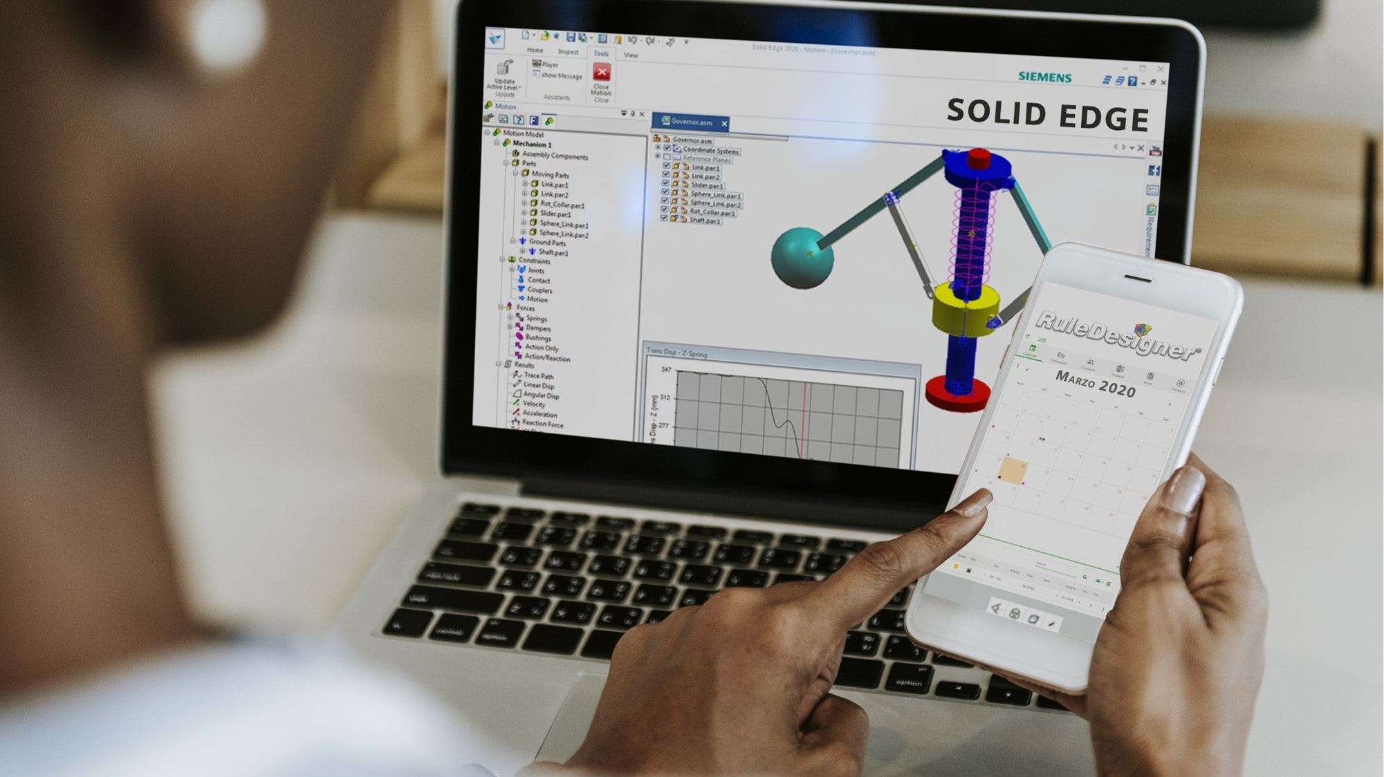 Webinar on demand |  Solid Edge 2020 Simulazione Cinematica  [by Engineering]